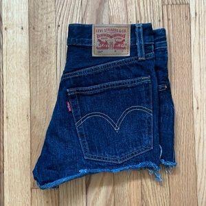 Levi's 501 Dark Wash Demin Shorts